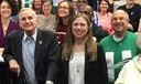 eliot Seide, Governor Dayton and Chelsea Clinton at AFSCME