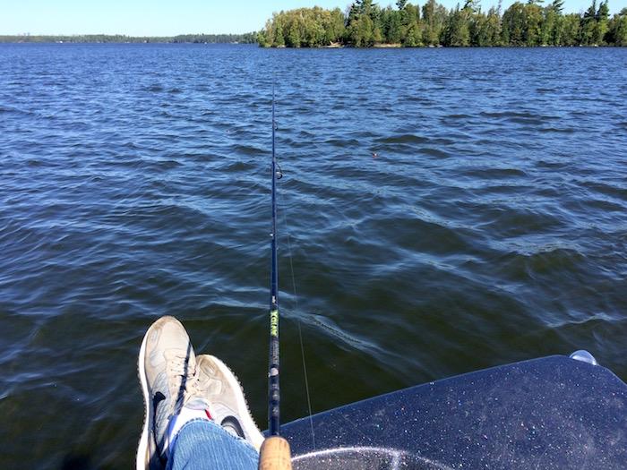 That's me, fishing